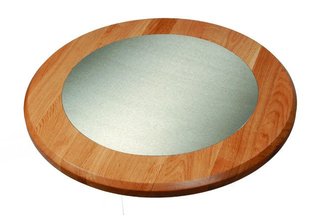 Stainless Steel Floor Inlays : Oak table top with stainless steel inlay buy