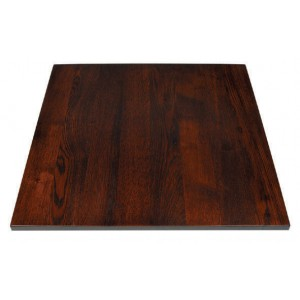 Oak table top mahogany 3,0 thick
