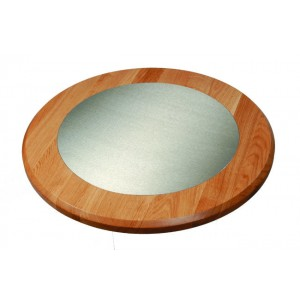 Oak Table top with Stainless Steel Inlay
