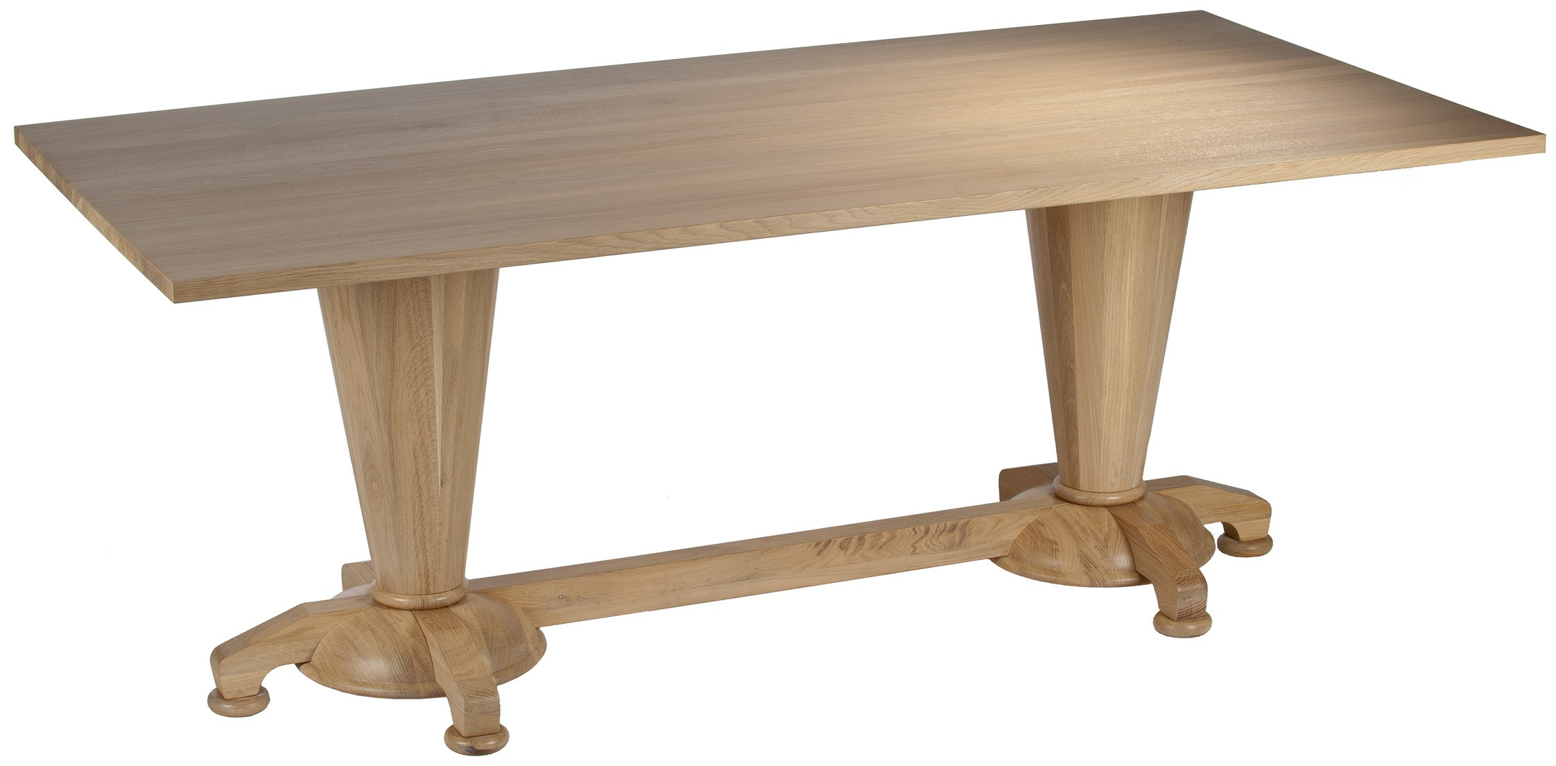Louise dining table 2 column oak buy for Table column